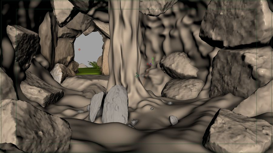 Grotta / Ambiente royalty-free 3d model - Preview no. 4