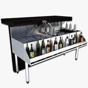 Under Bar Cocktail Station 3d model