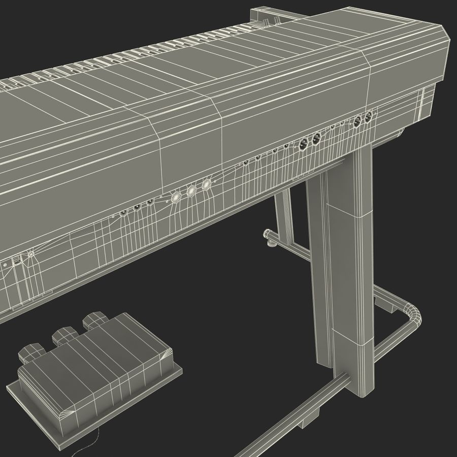 Fortepian 3 royalty-free 3d model - Preview no. 30
