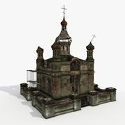 Templo en ruinas modelo 3d