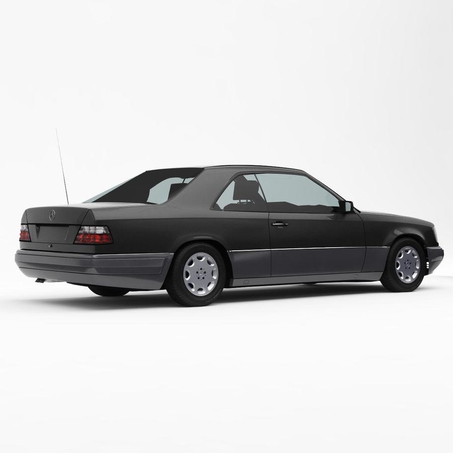 梅赛德斯·奔驰W124 / C124 E-Class Coupe 1993-96 royalty-free 3d model - Preview no. 3