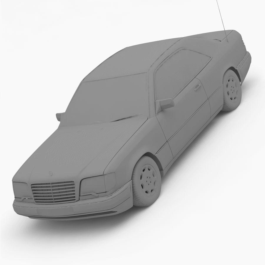 梅赛德斯·奔驰W124 / C124 E-Class Coupe 1993-96 royalty-free 3d model - Preview no. 10