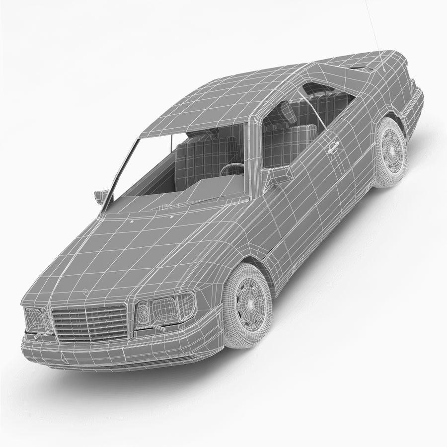 梅赛德斯·奔驰W124 / C124 E-Class Coupe 1993-96 royalty-free 3d model - Preview no. 11