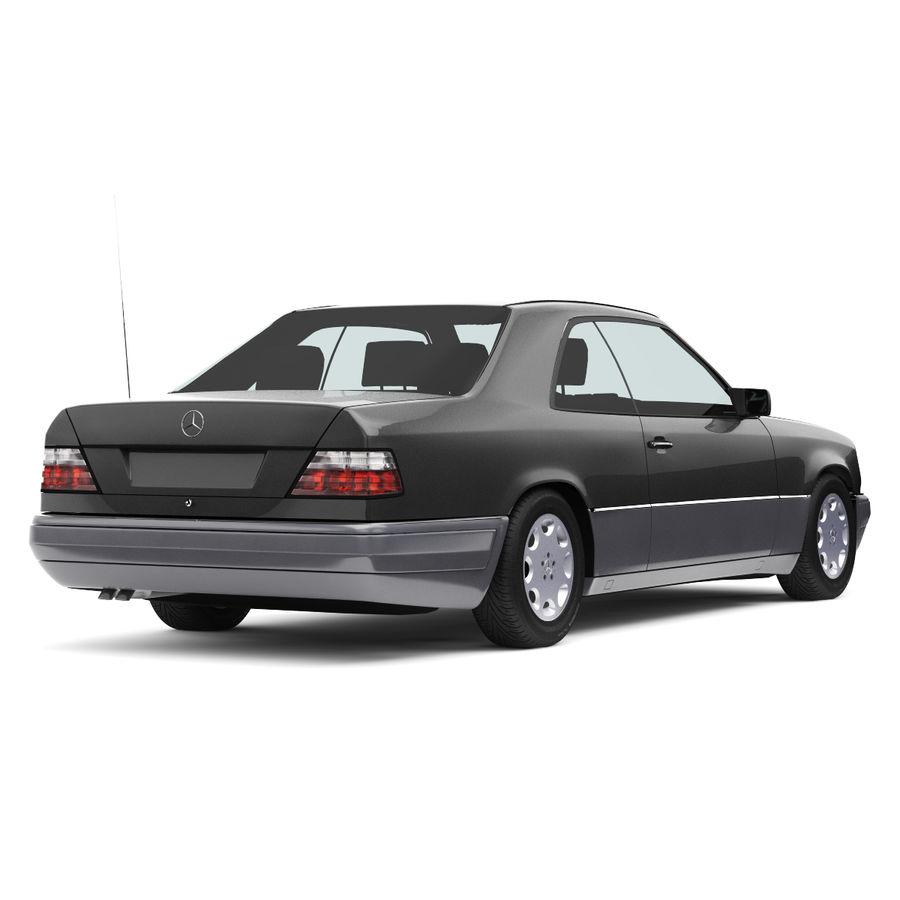 梅赛德斯·奔驰W124 / C124 E-Class Coupe 1993-96 royalty-free 3d model - Preview no. 2