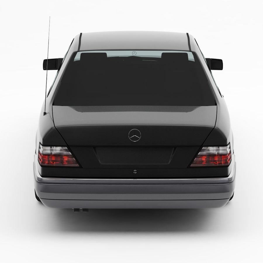 梅赛德斯·奔驰W124 / C124 E-Class Coupe 1993-96 royalty-free 3d model - Preview no. 8