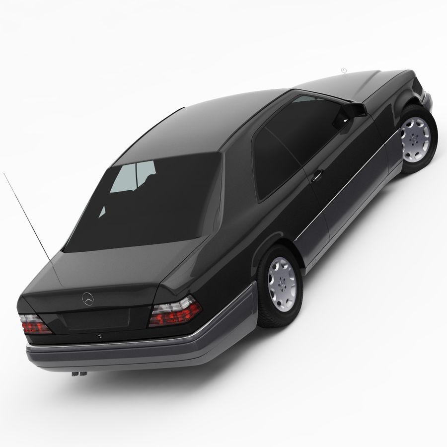 梅赛德斯·奔驰W124 / C124 E-Class Coupe 1993-96 royalty-free 3d model - Preview no. 5