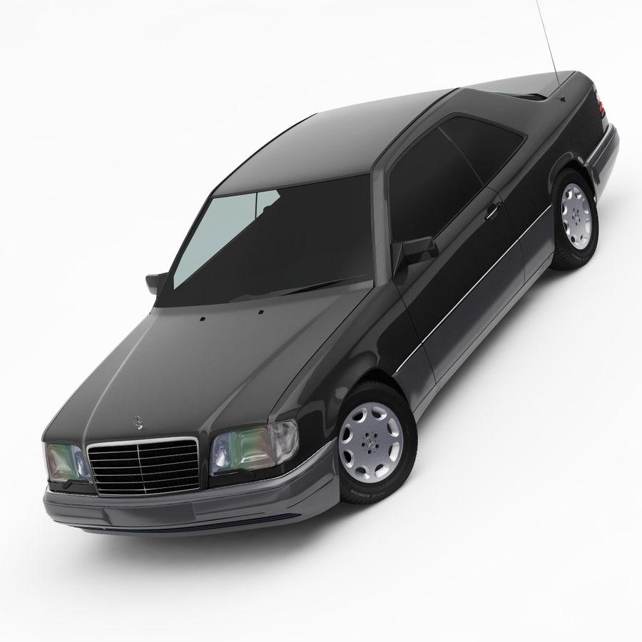 梅赛德斯·奔驰W124 / C124 E-Class Coupe 1993-96 royalty-free 3d model - Preview no. 4