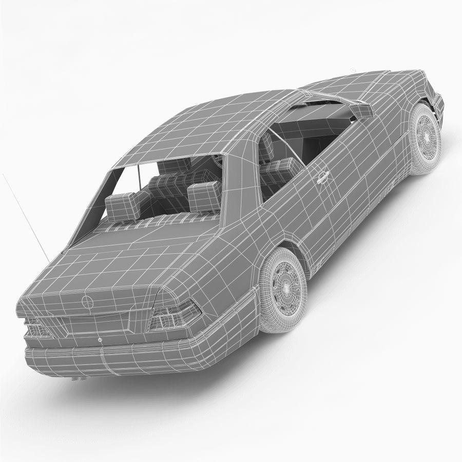 梅赛德斯·奔驰W124 / C124 E-Class Coupe 1993-96 royalty-free 3d model - Preview no. 12