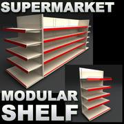 Modulaire supermarktplank 3d model