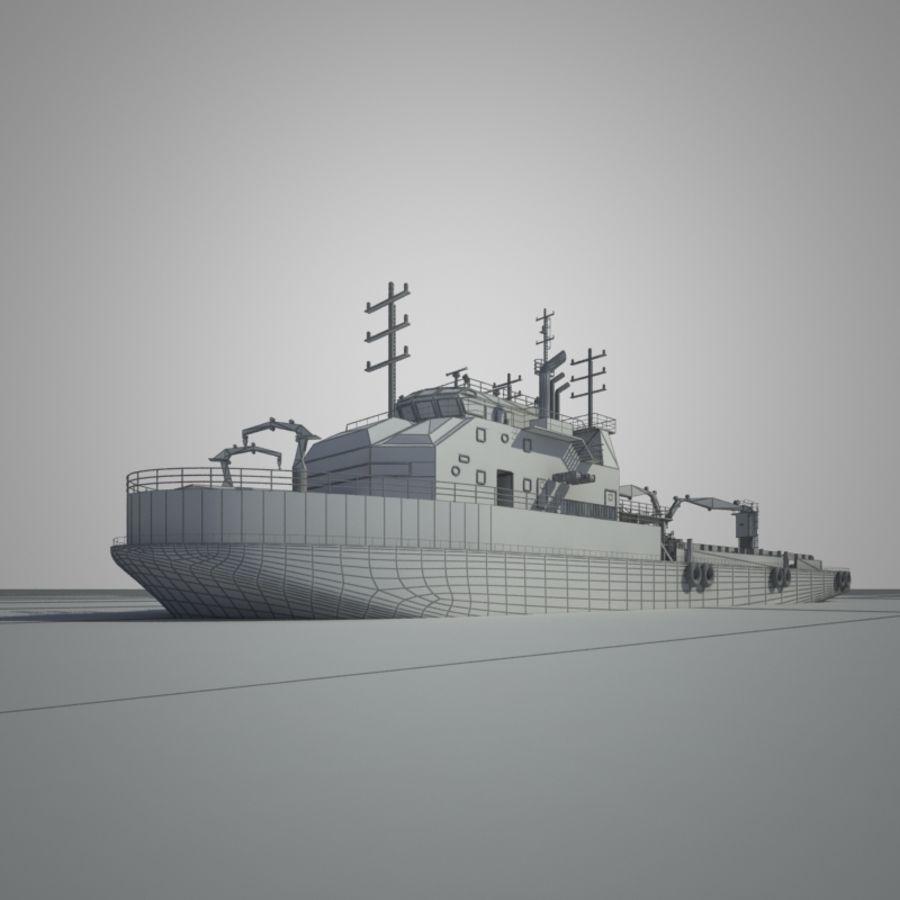 锚式拖船供应AHTS royalty-free 3d model - Preview no. 6