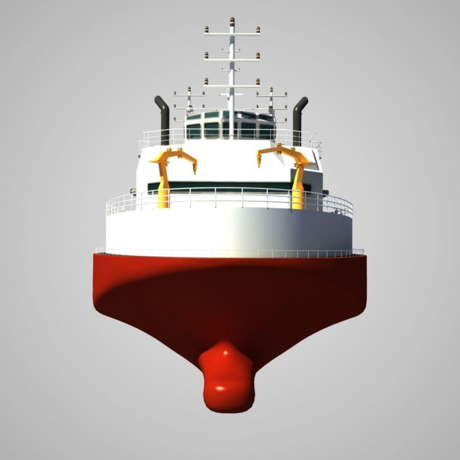 锚式拖船供应AHTS royalty-free 3d model - Preview no. 9