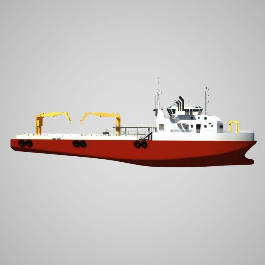 锚式拖船供应AHTS royalty-free 3d model - Preview no. 11
