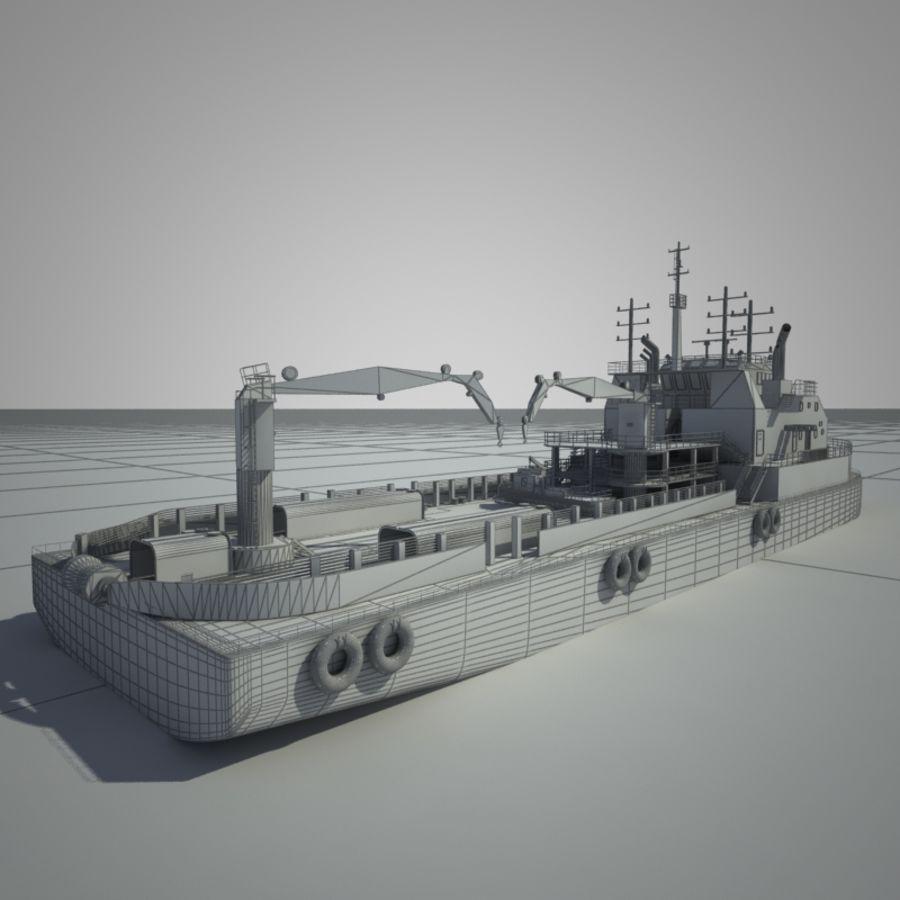 锚式拖船供应AHTS royalty-free 3d model - Preview no. 4