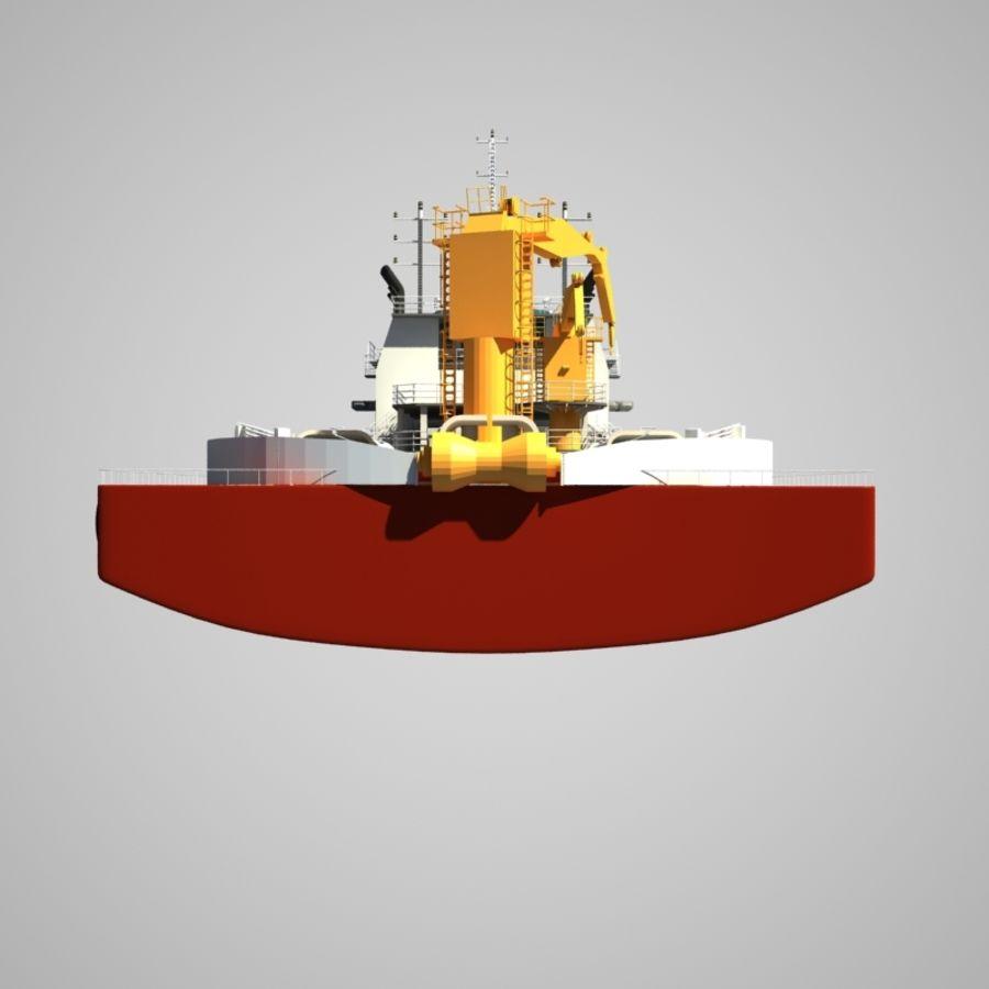锚式拖船供应AHTS royalty-free 3d model - Preview no. 10