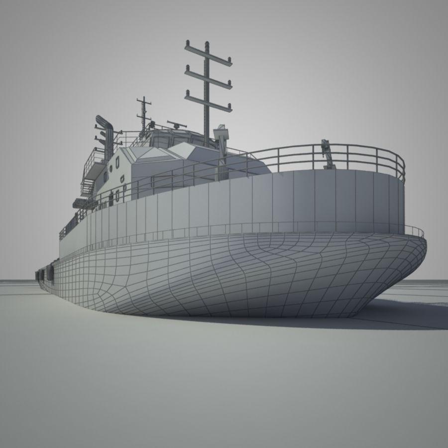 锚式拖船供应AHTS royalty-free 3d model - Preview no. 8