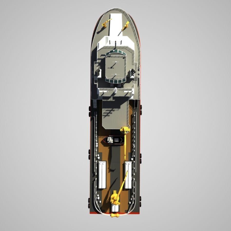 锚式拖船供应AHTS royalty-free 3d model - Preview no. 12