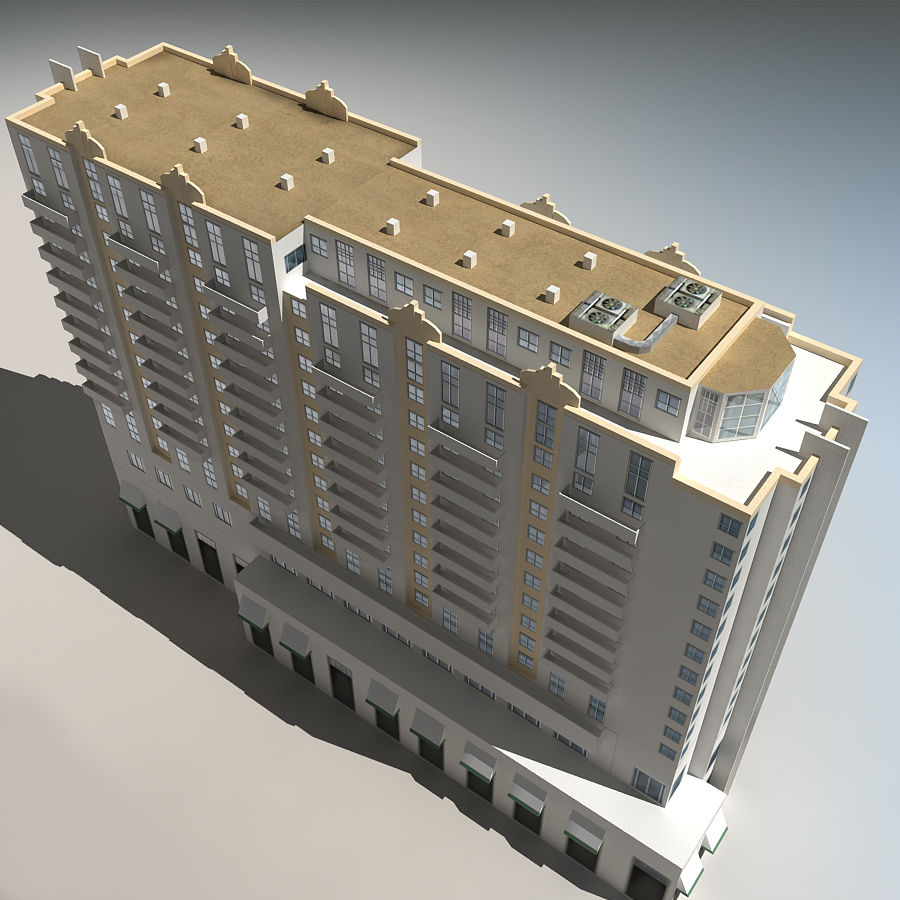 Beach Building 06 royalty-free 3d model - Preview no. 9