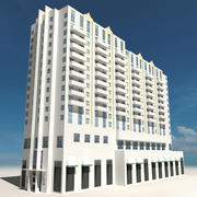 Beach Building 06 3d model