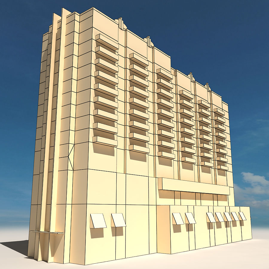 Beach Building 06 royalty-free 3d model - Preview no. 2