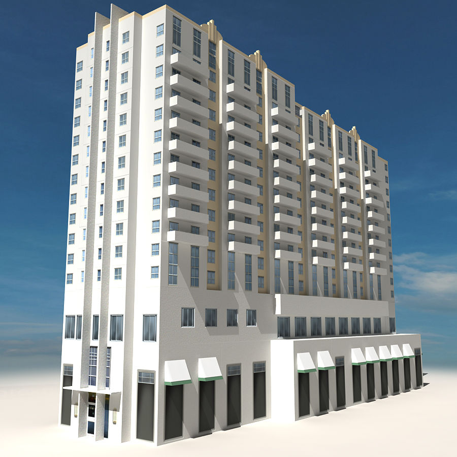 Beach Building 06 royalty-free 3d model - Preview no. 3