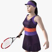 网球运动员的女人 3d model