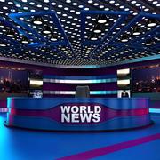 Tv News Room - Virtual Studio 3d model