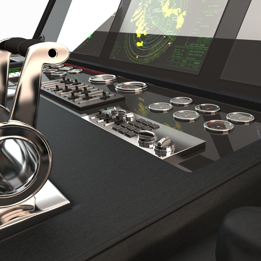 Yacht Control Panel royalty-free 3d model - Preview no. 4