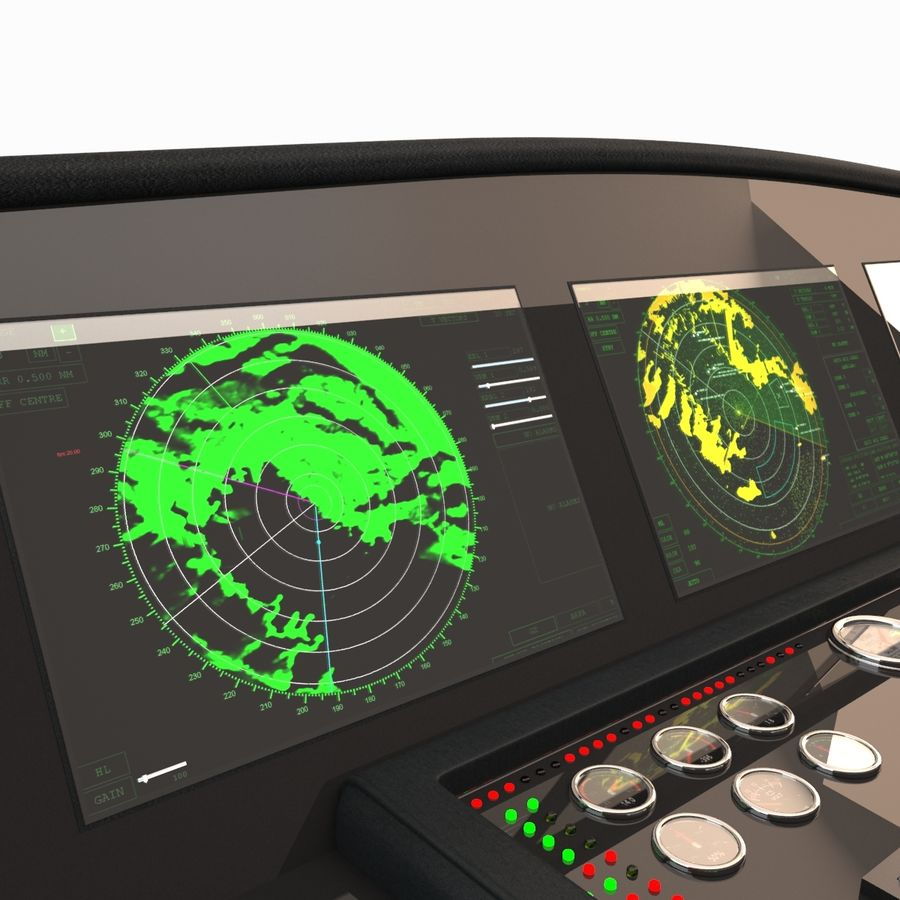 Yacht Control Panel royalty-free 3d model - Preview no. 7