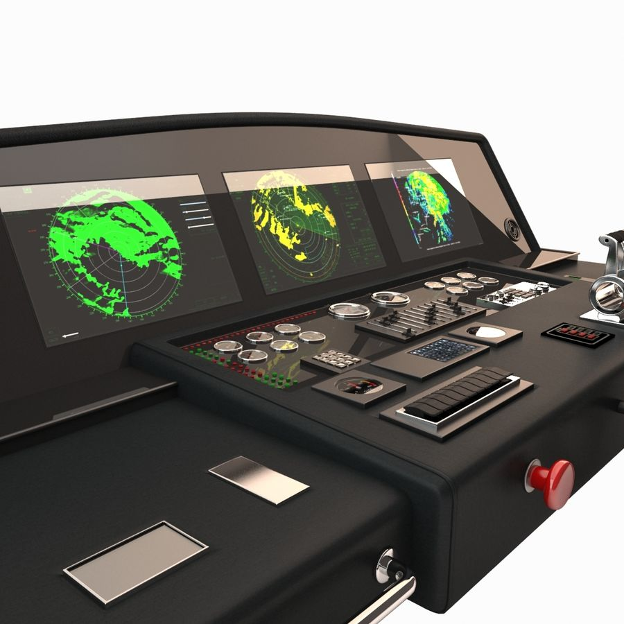 Yacht Control Panel royalty-free 3d model - Preview no. 5