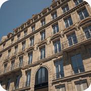 Paris Building Haussmann 3d model