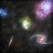 Galaxia estrella modelo 3d
