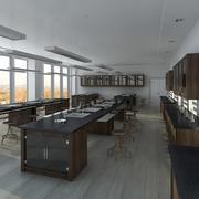 Vetenskapligt laboratorium 3 3d model