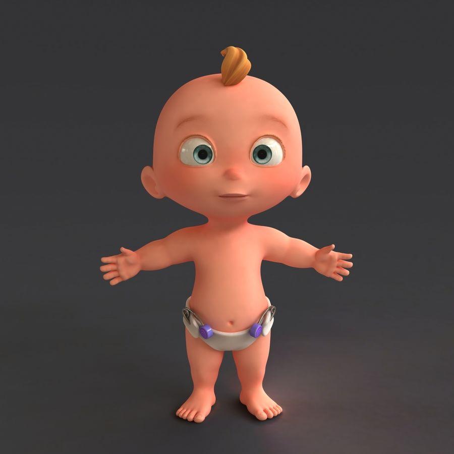 Dessin animé, bébé royalty-free 3d model - Preview no. 4