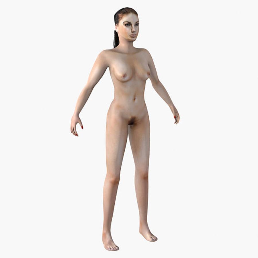 여성의 몸 royalty-free 3d model - Preview no. 1
