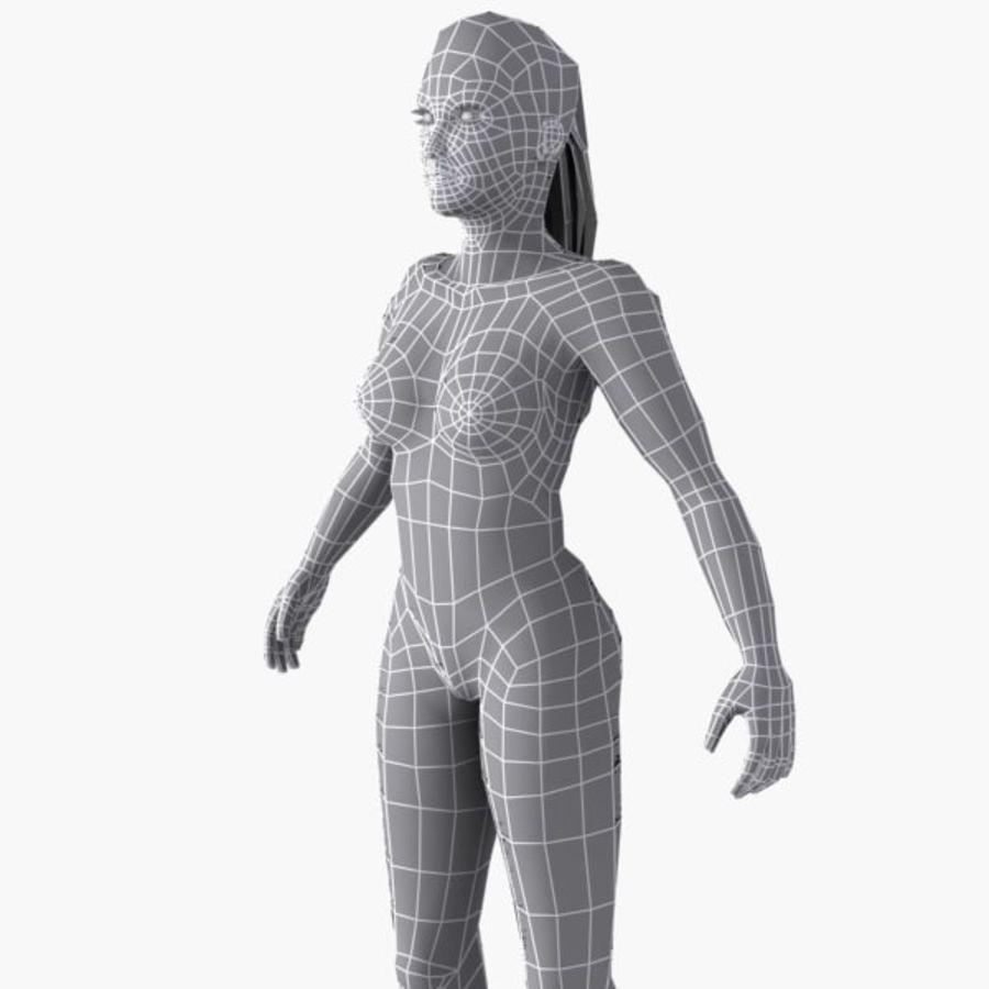 여성의 몸 royalty-free 3d model - Preview no. 15