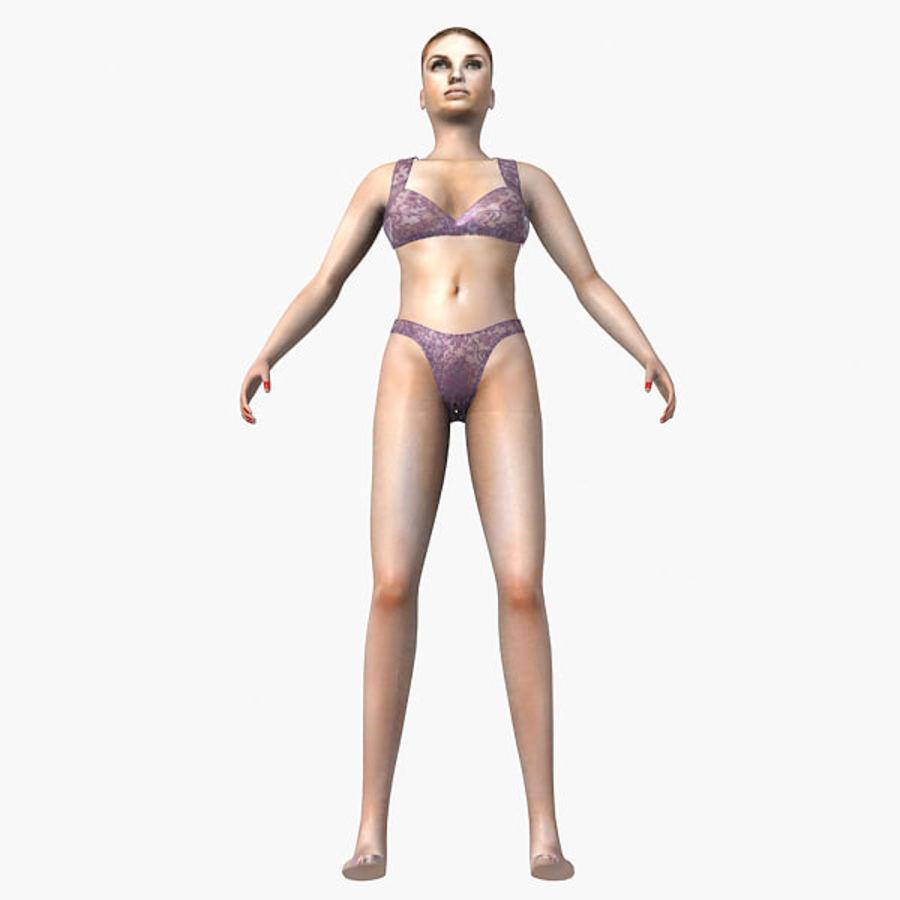 여성의 몸 royalty-free 3d model - Preview no. 17