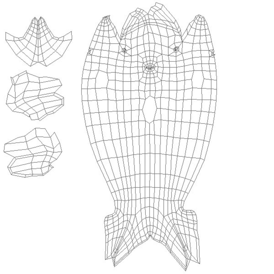 Siatka bazowa wieloryba royalty-free 3d model - Preview no. 9