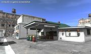 Tankstelle mit Lebensmittelgeschäft 3d model