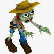 Toon Cowboy Zombie Character 3d model