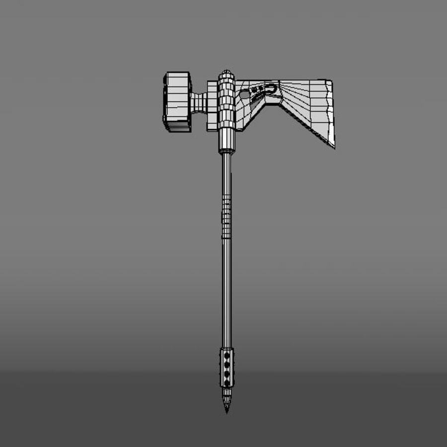 War Axe royalty-free 3d model - Preview no. 6