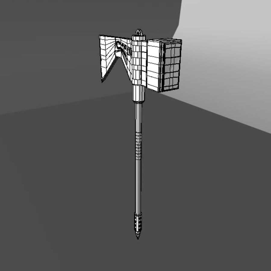 War Axe royalty-free 3d model - Preview no. 5