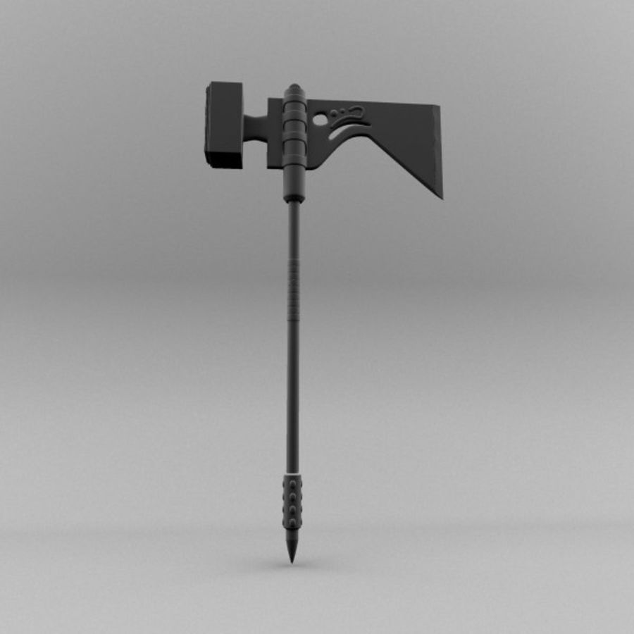 War Axe royalty-free 3d model - Preview no. 3