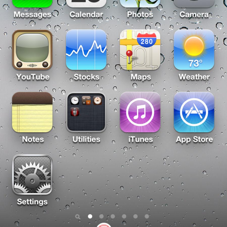 苹果手机4 royalty-free 3d model - Preview no. 4