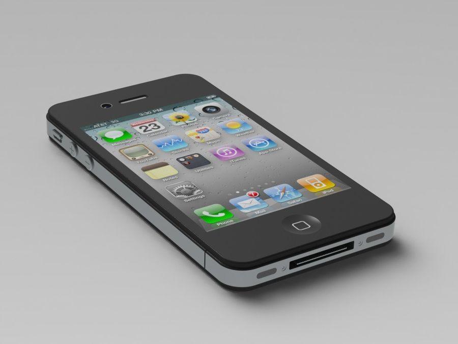 苹果手机4 royalty-free 3d model - Preview no. 1