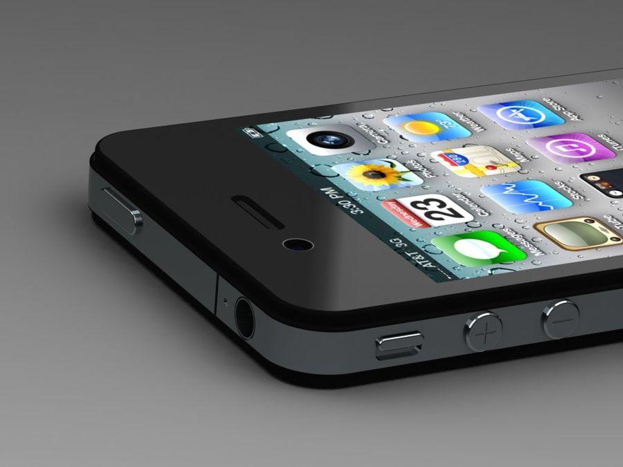 苹果手机4 royalty-free 3d model - Preview no. 3
