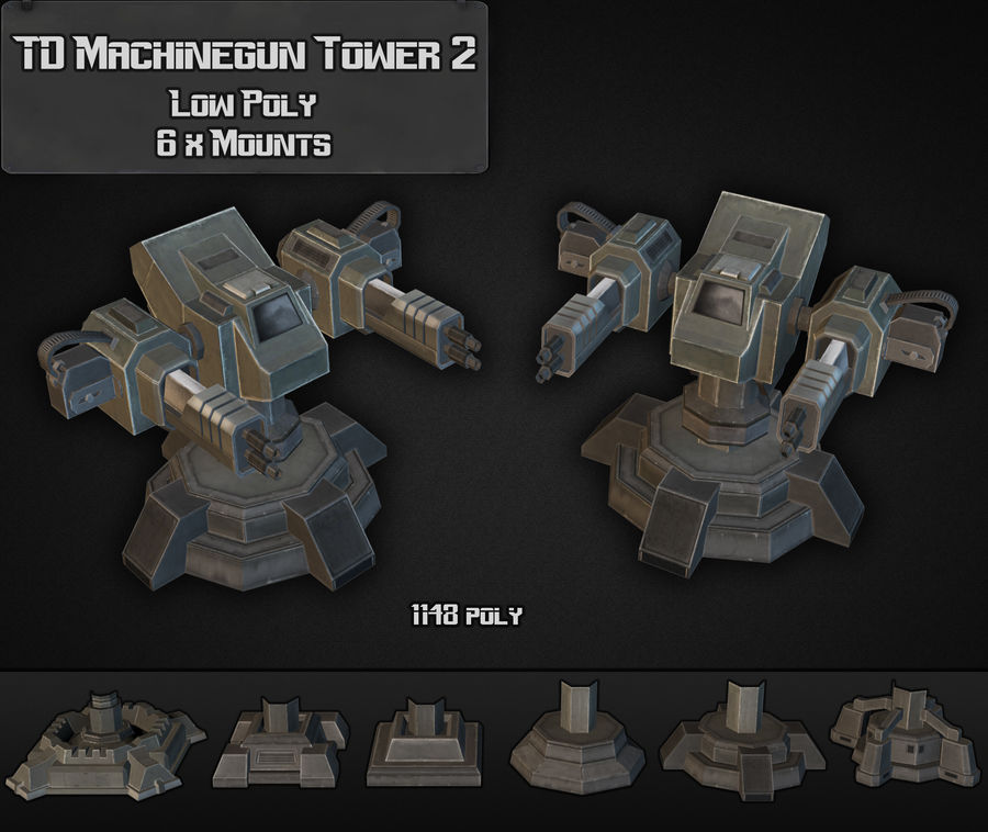 Torre de ametralladoras TD 02 royalty-free modelo 3d - Preview no. 5
