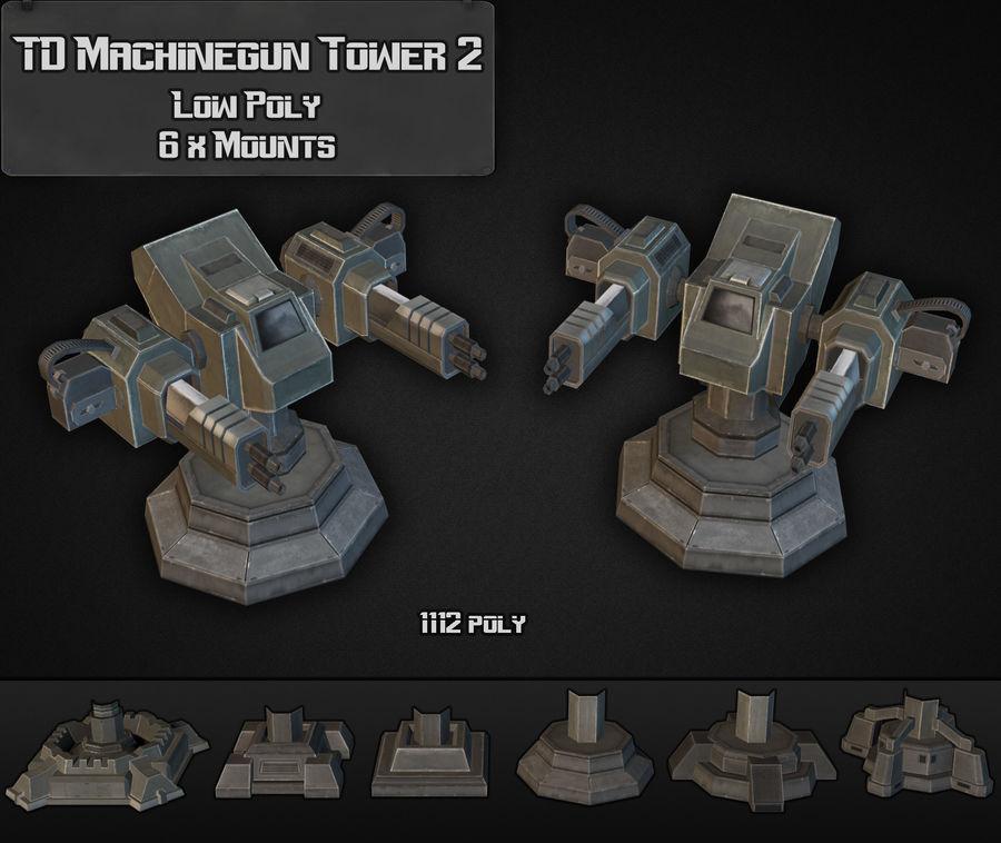 Torre de ametralladoras TD 02 royalty-free modelo 3d - Preview no. 4
