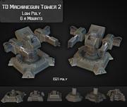 TD Machinegun Tower 02 3d model