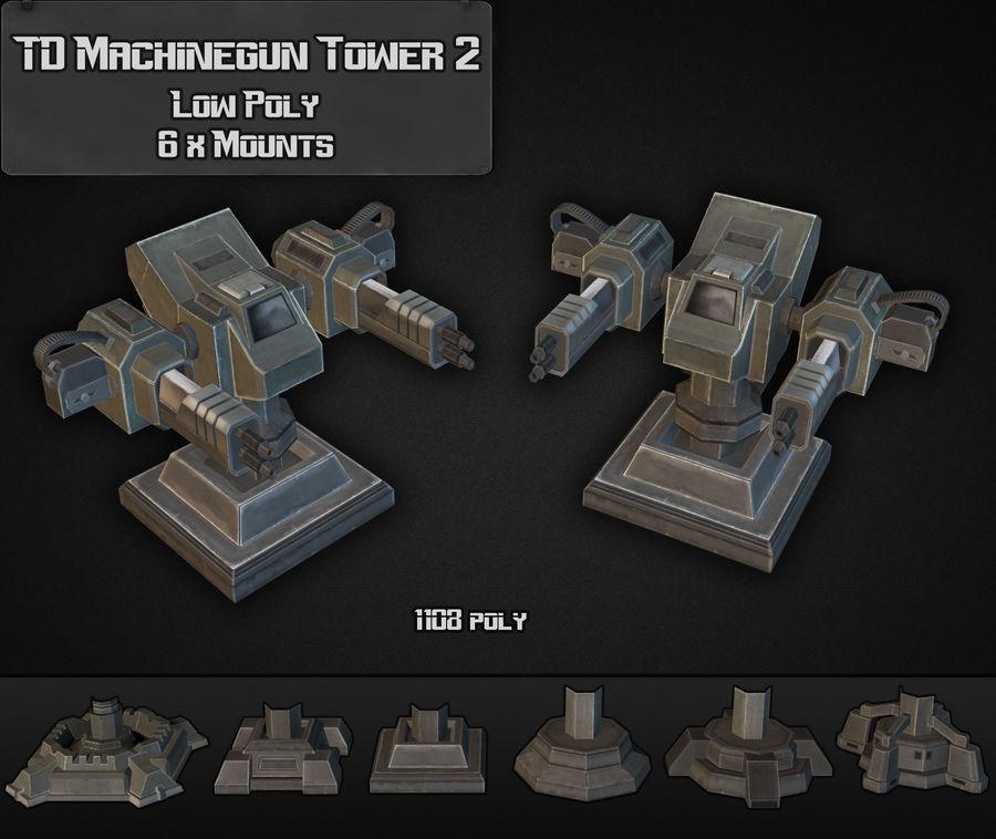 Torre de ametralladoras TD 02 royalty-free modelo 3d - Preview no. 3