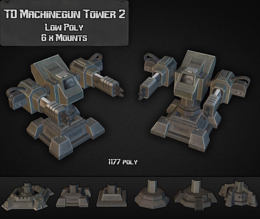 Torre de ametralladoras TD 02 royalty-free modelo 3d - Preview no. 2